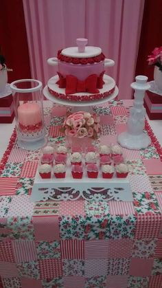Pink Bridal Shower Party!  See more party planning ideas at CatchMyParty.com!