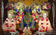 To view Gaura Nitai with Acharyas Wallpaper of ISKCON Chicago in difference sizes visit - http://harekrishnawallpapers.com/sri-sri-gaura-nitai-with-acharyas-iskcon-chicago-wallpaper-004/