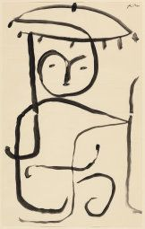 Paul Klee German, born Switzerland, 1879-1940, The Sales Woman in the Open (Study for 'Exotic')