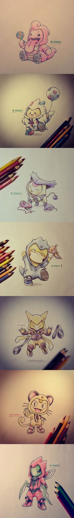 costumes mignons Pokemon Evolution Art ...