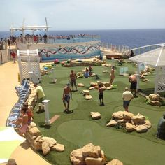 The Golf Course Aboard Allure of the Seas