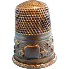 Antique French Sewing Thimble Sterling Silver 19th