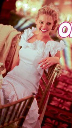 Katherine Heigl at her wedding.