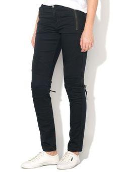Pantaloni biker dama conici cu talie joasa si fermoare Black Jeans, Fashion, Templates, Moda, Fashion Styles, Black Denim Jeans, Fashion Illustrations