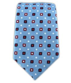 Blossom Row - Light Blue (Cotton Skinny) | Ties, Bow Ties, and Pocket Squares | The Tie Bar