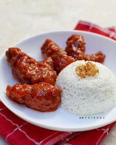 Chicken Wings Spicy, Chicken Wing Recipes, Fried Chicken, Food 101, Indonesian Food, Recipe Collection, I Foods, Cooking Recipes, Cooking Ideas