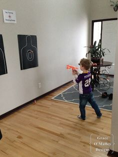 complete spy training party... bull's eye and nerf gun... do during spring break, different task each day... spy training.