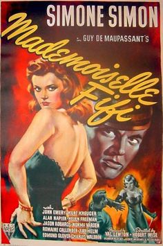 """Mademoiselle Fifi"",1945. Movie Poster."