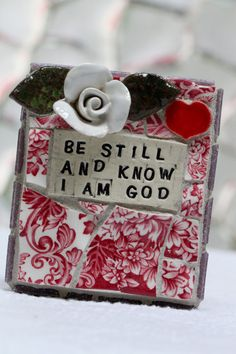 Be Still and Know I am God mosaic art by Lisabetzmosaicart on Etsy