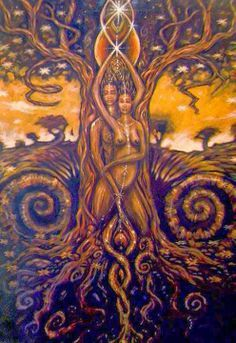 """""""Sexual energy is the primal and creative energy of the universe. All things that are alive come from sexual energy. Tantra, Art Black Love, Art Amour, Art Visionnaire, Flame Art, Sacred Feminine, Visionary Art, Couple Art, Psychedelic Art"""