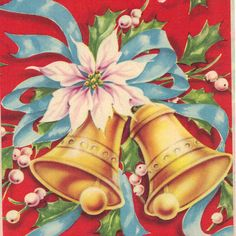 Vintage Christmas Wrapping Paper circa 1950s