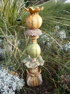 pottery garden totems - Google Search