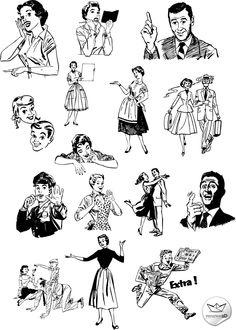 recursos gratis de estilo retro Vintage Design, Retro Design, Retro Vintage, Vintage Toys, Retro Kunst, Retro Art, Retro Advertising, Vintage Advertisements, Pencil Sketch Images