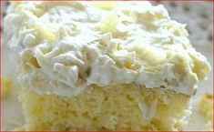 This Pineapple Sunshine Cake is always a crowd pleaser! A light and fluffy pineapple-infused cake, topped with a sweet and creamy whipped cream frosting. Pineapple Angel Food, Pineapple Desserts, Crushed Pineapple, Pineapple Whip, Pineapple Yellow, Pineapple Recipes, Lemon Desserts, Orange, Cake Mix Recipes