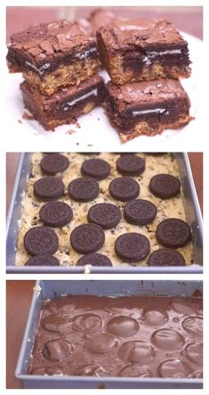 Need a dessert for a crowd? Make these slutty brownies for the perfect potluck dessert. Made with a brownie box mix and a cookie dough mix # best Desserts Best Dessert for A Crowd (Slutty Brownies Recipe) Potluck Desserts, Mini Desserts, Quick Dessert Recipes, Desserts For A Crowd, Party Desserts, Chocolate Desserts, No Bake Desserts, Healthy Desserts, Gourmet Recipes