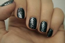 Cool idea with the one sided glitter!