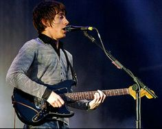 Alex Turner (Arctic Monkeys) playing his Fender Bronco - one of the few successful bands that uses it.  This is the more rare late 70's black on black Bronco, sweet guitar!  His was stolen.  I have the same guitar  :)  No, I didn't it steal it.
