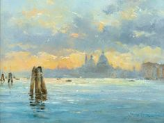 Artist: David Howell, PRSMA; Painting: Sunset, Baccino di San Marco