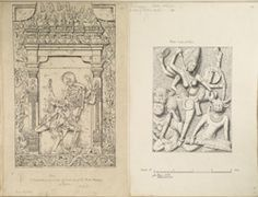 Titel   Ellora: Compartment from the south side of the basement of the Nandi…