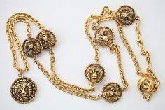 Vintage Chanel Lion Necklace