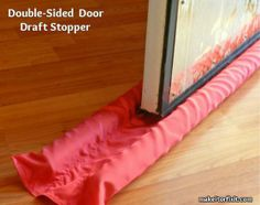 How to Make a Double-Sided Door Draft Stopper