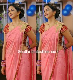 plain saree with shoulder brooch - Google శోధన