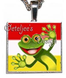 Oeteldonk hanger metaal met kikker | Bedels en hangers | Oeteljee.nl | Den Bosch |