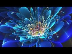 flower art ab blue abstract and cg Glowing Flowers, Dark Flowers, Hd Wallpapers For Mobile, Mobile Wallpaper, Wallpaper Art, Wallpaper Ideas, Phone Wallpapers, Fractal Design, Fractal Art