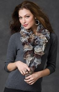 My friend and I knit these popular scarves and have them for sale in alot of different colors contact us if you would like one