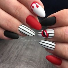 Semi-permanent varnish, false nails, patches: which manicure to choose? - My Nails Funky Nails, Trendy Nails, Funky Nail Art, Red Nail Art, Great Nails, Cute Nails, Wow Nails, Cute Acrylic Nails, Pastel Nails