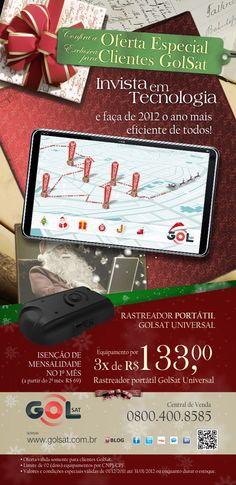 Email Marketing de Natal produzido para Golsat.
