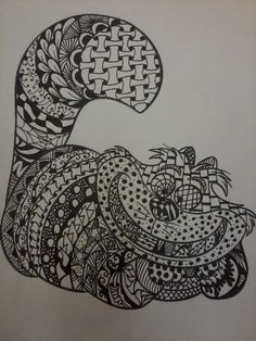 Zentangle Cheshire Cat from Alice in by Sandra Glover Clarke (Via Etsy MyCreeksideStudio)