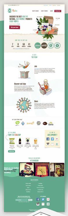 Unique Web Design, Flowbox #webdesign #design (http://www.pinterest.com/aldenchong/)