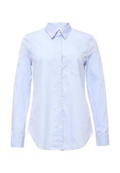 Рубашка, Gap, цвет: голубой. Артикул: GA020EWNQU55. Женская одежда / Блузы и рубашки