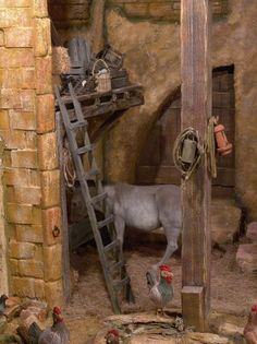 belenistas de la Isla. Fotos Nativity Scenes, Religious Art, Tenerife, Wooden Toys, Cribs, Christmas Decorations, Diorama Ideas, Bethlehem, Scrap