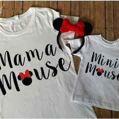 Mama Mouse and Mini Mouse Matching Shirt set