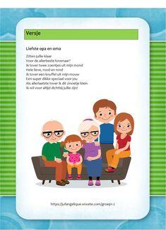 Versje: Liefste opa en oma School, Projects, Kids, Blog, Songs, Toddlers, Blue Prints, Boys, Kid