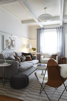 Бабочка стул-прекрасный пример того, как это сделать уютно в гостиной Дженн Hannotte в.  (Изображение с помощью The Marion Дом книги)