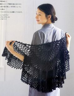 Irish lace, crochet, crochet patterns, clothing and decorations for the house, crocheted. Crochet Cape, Crochet Jacket, Crochet Shawl, Irish Crochet, Knitting Magazine, Crochet Magazine, Shawl Patterns, Crochet Patterns, Crochet Collar