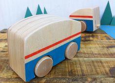 Minibus & Camper wooden toy