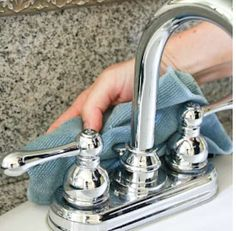faire briller les robinets chrome avec alcool 70
