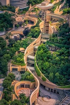 Beautiful! (Namba Parks is an office and shopping complex in Osaka Japan. It consists of a high office building called Parks Tower and shopping mall with rooftop garden.)