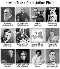 How to take a great author photo - aspiring authors, take note!