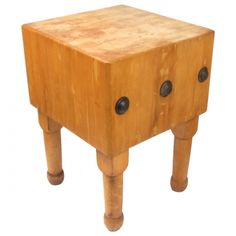 Butcher-block Worktable – Kitchen Island, Chopping Block - My Collectables Classifieds