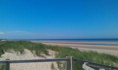 An empty beach somewhere near Prestatyn