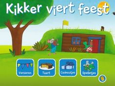 *▶ Kikker viert feest! Primary School, Pre School, Dutch Language, A Classroom, Cute Kids, Childrens Books, Teaching, Education, Party