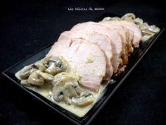 Rôti ardennais aux champignons et à la crème Pork, Favorite Recipes, Meat, Chicken, Fondant, Messages, Pork Roast, Dinner Entrees, Dutch Oven