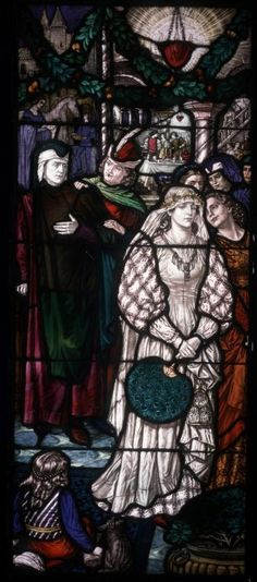 Renaissance period due to the stain glass window typically found in churches are this era