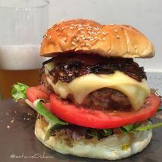 Sábado sabadete #burger & #beer ahora voy a por la...