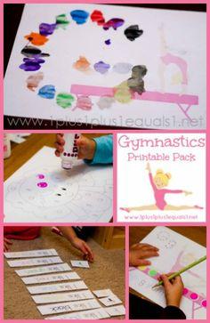 Girls Gymnastics Printables ~ in action on @{1plus1plus1} Carisa